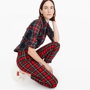 J. Crew Tartan Cameron Slim Crop Wool Pants